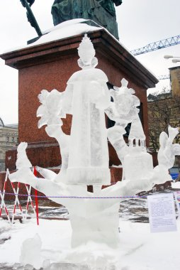 Ice Sculpture exhibition on the Red Square