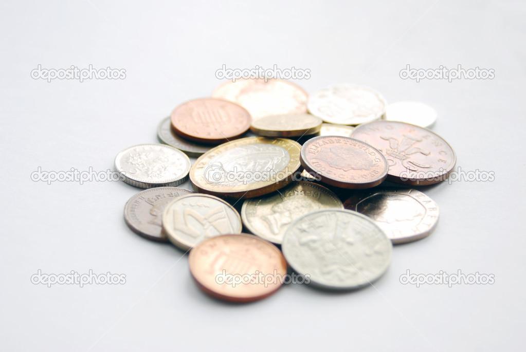 Geld Münzen Verschiedener Länder Stockfoto Nevakalina 21712941