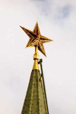 Red ruby star. Moscow Kremlin tower.