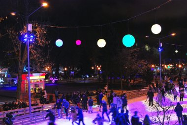Ice rink in the Gorky park in Moscow