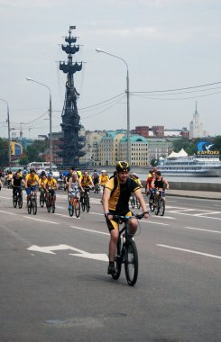 Cycle race in Moscow