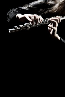Flute music instrument playing flutist