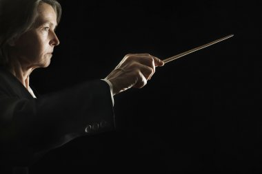 Orchestra conductor music conducting