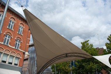Overhead awnings canopy