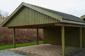 Fotografie modernes Carport-Parkhaus