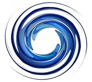 Isolated water vortex