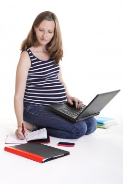 Pregnant woman - work from home