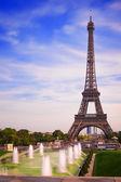 Paříž Eiffelova věž z Trocadera