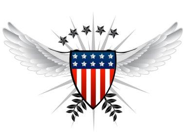 American inspired shield