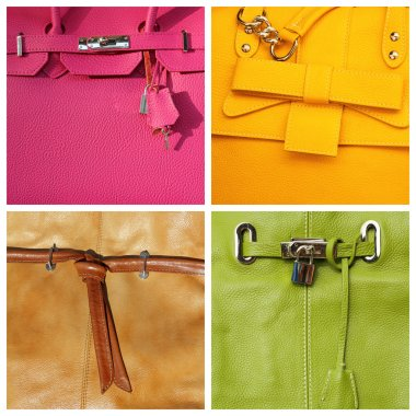 Collage with handbags