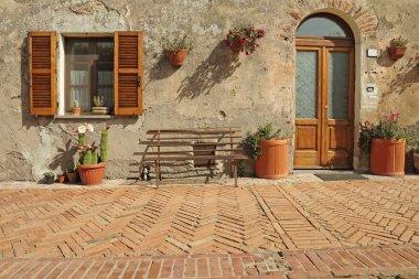 nice entrance to the tuscan house, Sovana, Tuscany, Italy, Europ