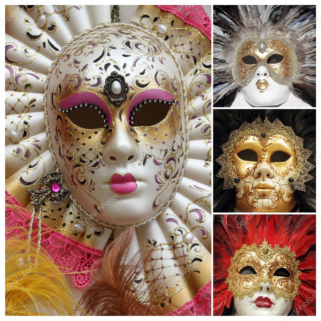 ef0379da5 Benátský karneval masky plakát, Benátky, Itálie, Evropa– Stock Editorial  Fotografie