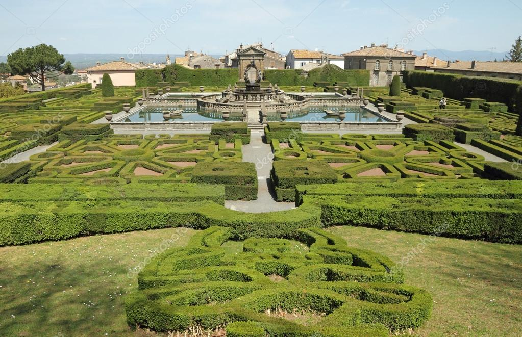 Mannerist garden of Villa Lante in Bagnaia near Viterbo, Lazio,