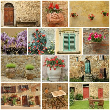 Bella Toscana collage
