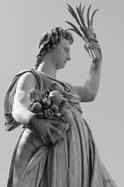 Statue of Ceres ( greek Demeter ) - ancient roman goddess of th