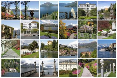 composition with spectacular images from Lake Como, Milan, Lomba