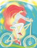 holka na kole