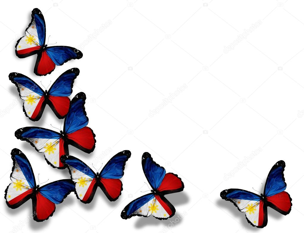 Philippine flag butterflies isolated on white background stock philippine flag butterflies isolated on white background stock photo biocorpaavc Choice Image