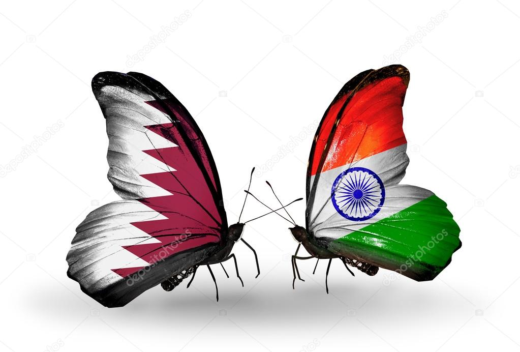 Indian Flag Butterflies: Butterflies With Qatar And India Flags On Wings