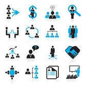 Fotografia set di 16 icone di gestione e risorse umane