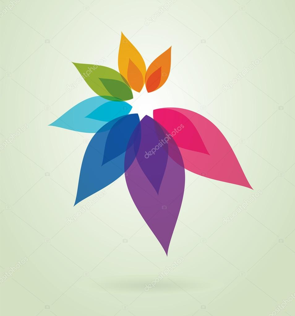 Abstract flower design.