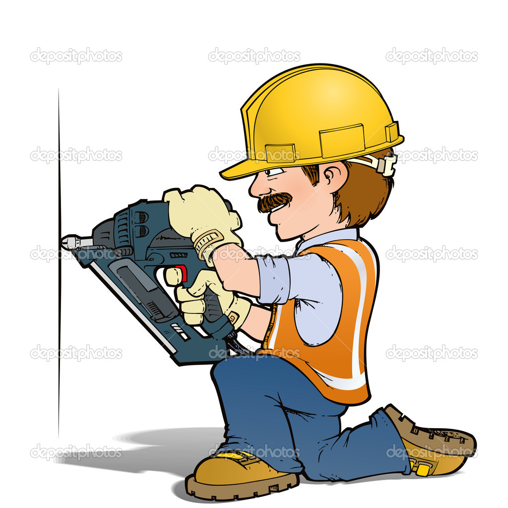 Construction Workers Nailling Stock Photo C Nazlisart 25908827