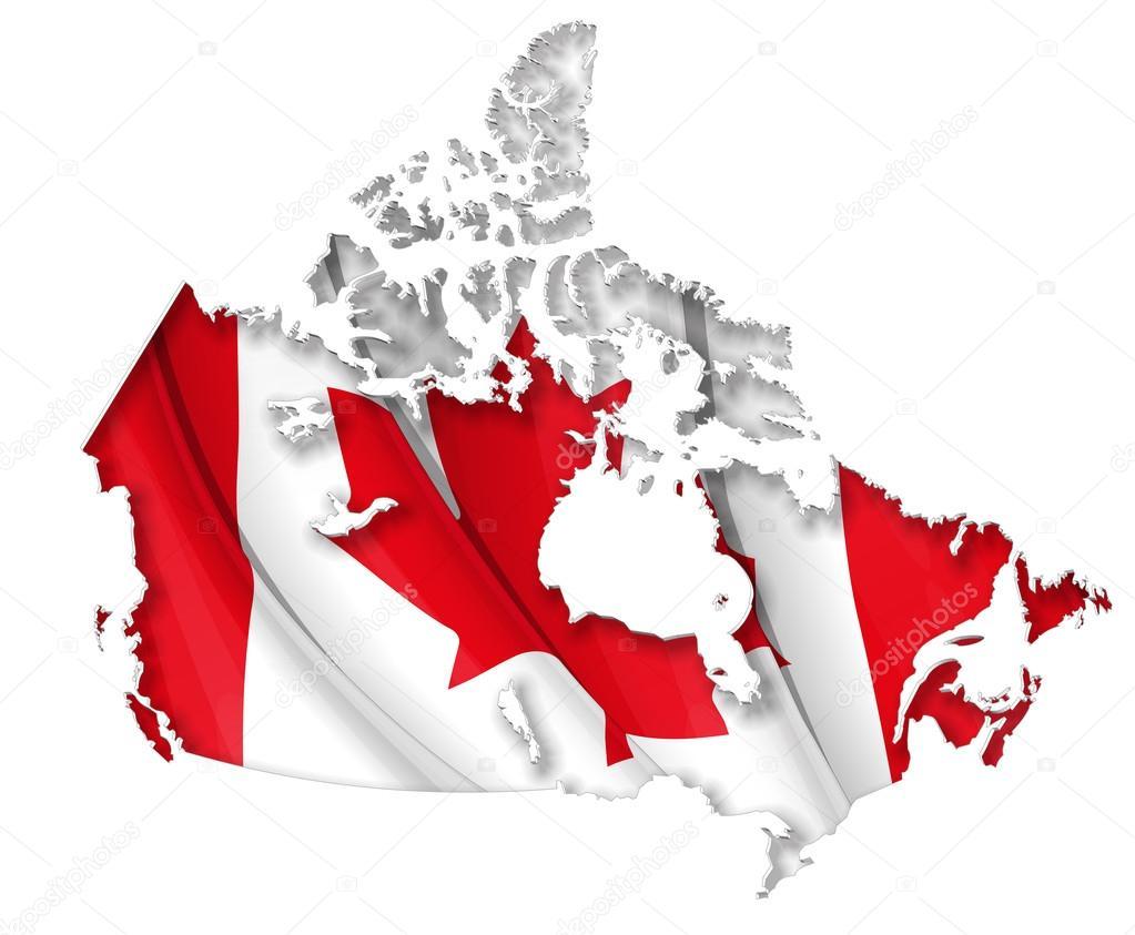 Canadian MapFlag Stock Vector Nazlisart - Canada map with flag