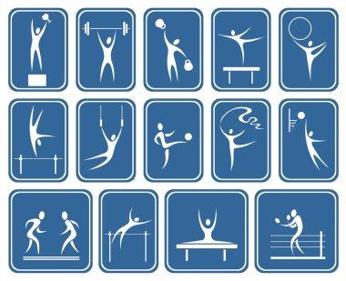 ornate sports symbols