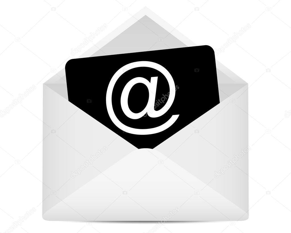 enveloppe au symbole e