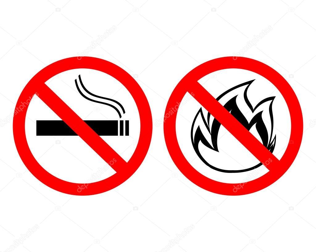 знак не курите в лесу доме