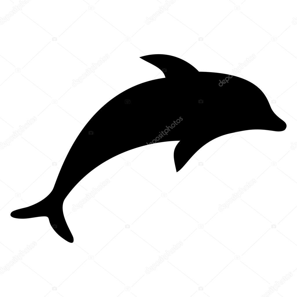 golfinho de silhueta vetor de stock pavlentii 38613919