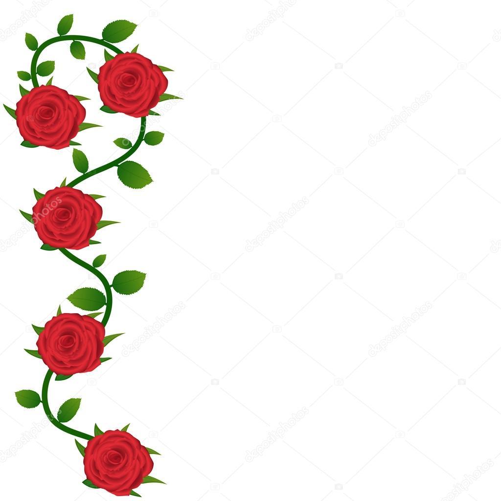 fondo de rosas rojas para la tarjeta de felicitacin archivo imgenes vectoriales