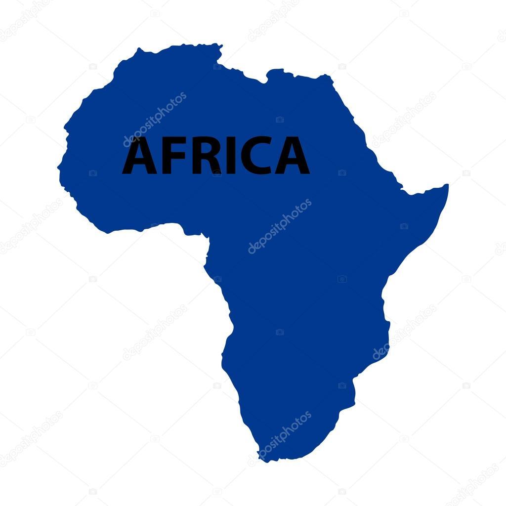 アフリカの白い背景の上の青い地図 ストックベクター pavlentii