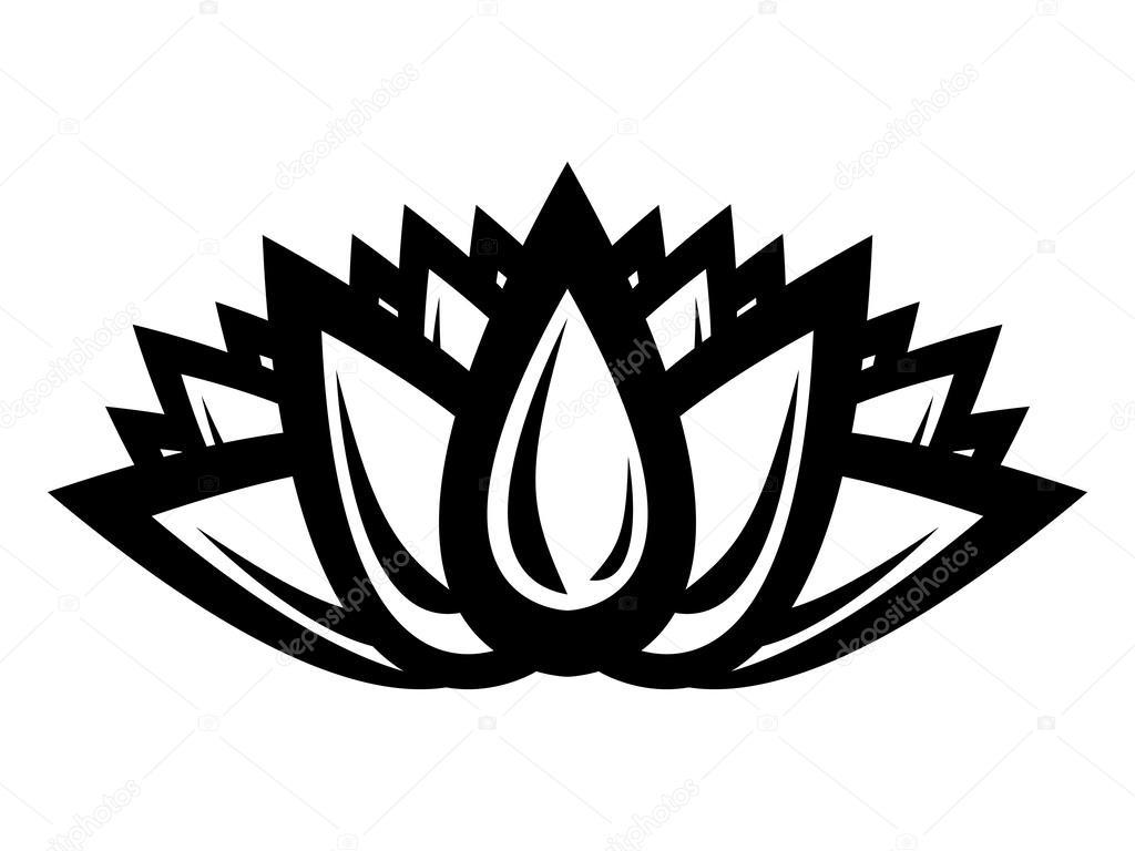 White Lotus Flower Silhouette Flowers Healthy