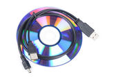 USB cable and DVD