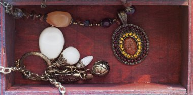 Necklaces in a box