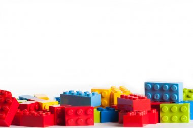 Lego blocks with copy space