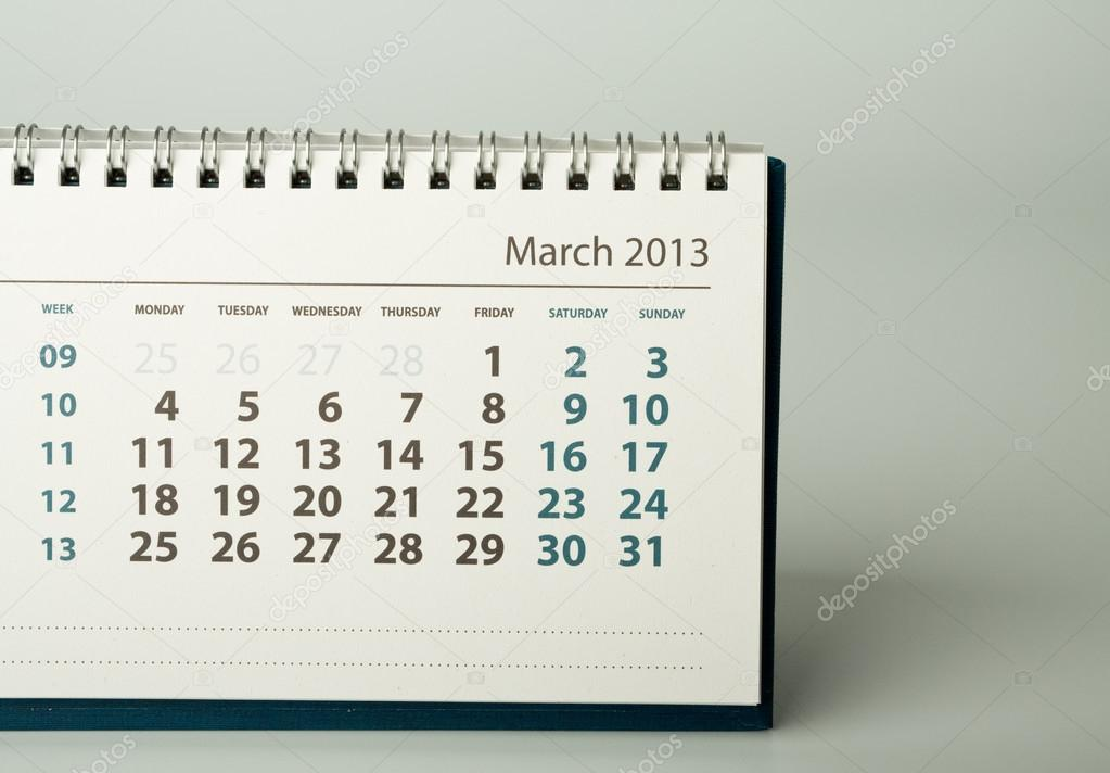 2013 Year Calendar March Stock Photo C Maurus 19874203