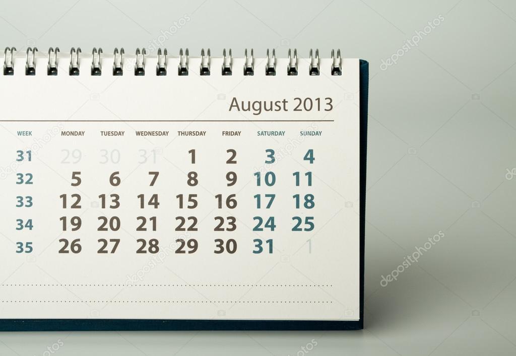 2013 year calendar august stock photo maurus 19897329
