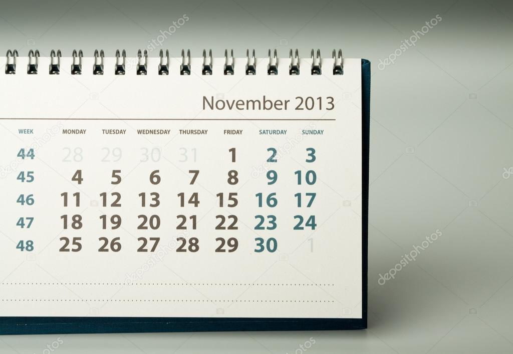 2013 Year Calendar November Stock Photo C Maurus 19956843