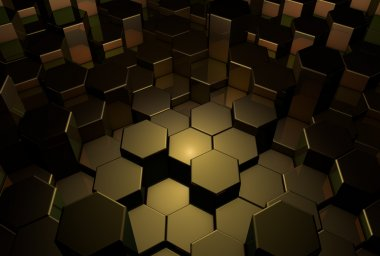 Abstract gold background 3D