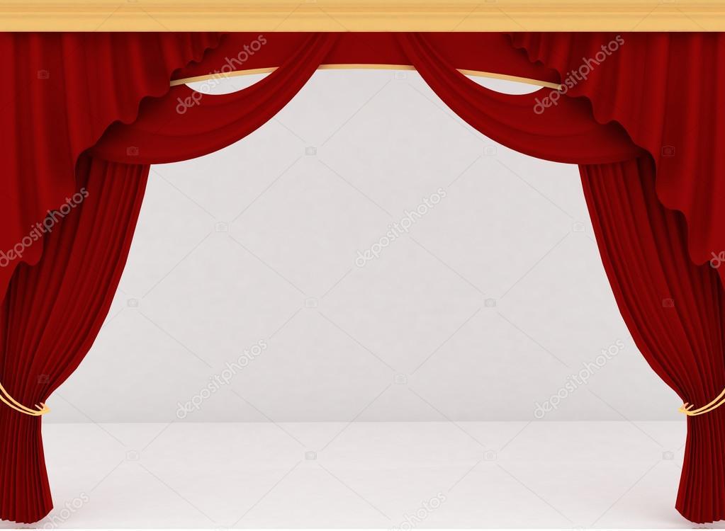 Theater gordijn — Stockfoto © 3DDock #13343076