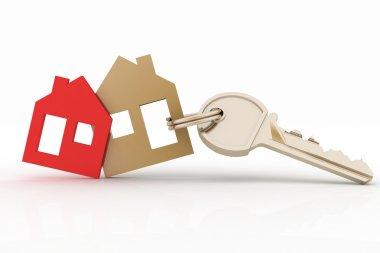 3d model house symbol set and key