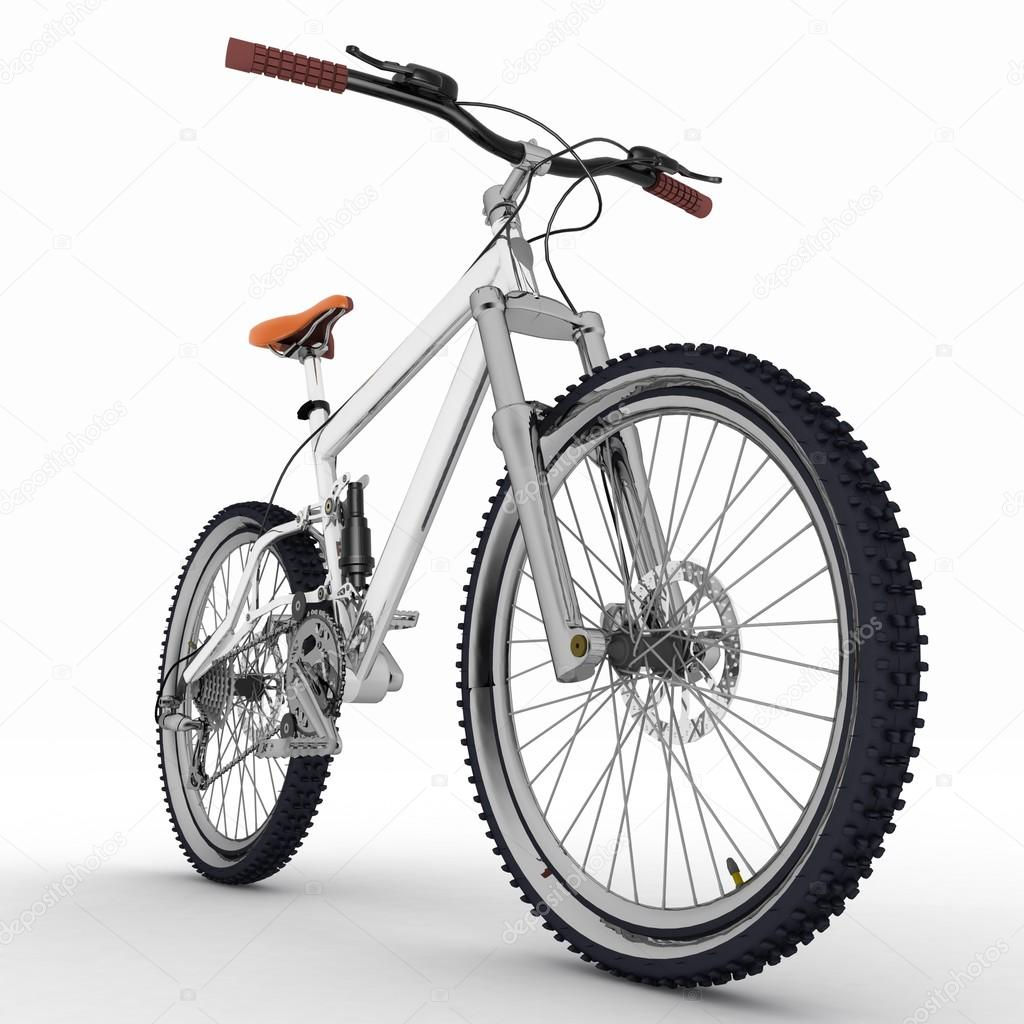 Bicycle isolated on white background