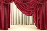 červená divadelní opona, pozadí