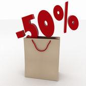 Fotografie Sale concept shopping bag design over