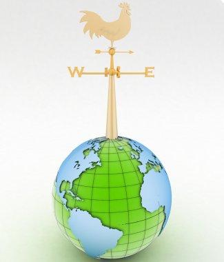 Weathercock and globe