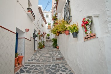 Canillas de Albaida in Spain, a traditional white town