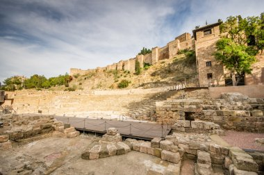 Old roman theatre in Malaga, Spain