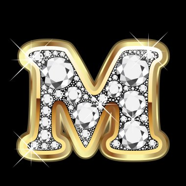 M gold and diamonds bling